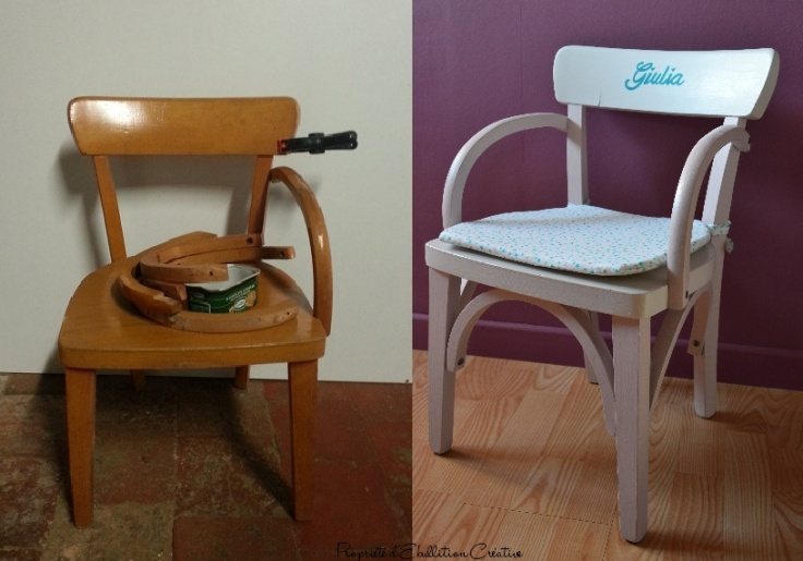 Relooking chaise enfant